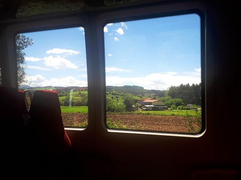 train window spain narrow gauge