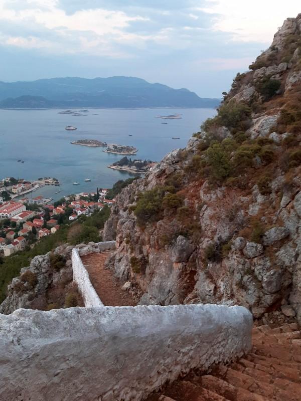steps cliff kastellorizo megisti