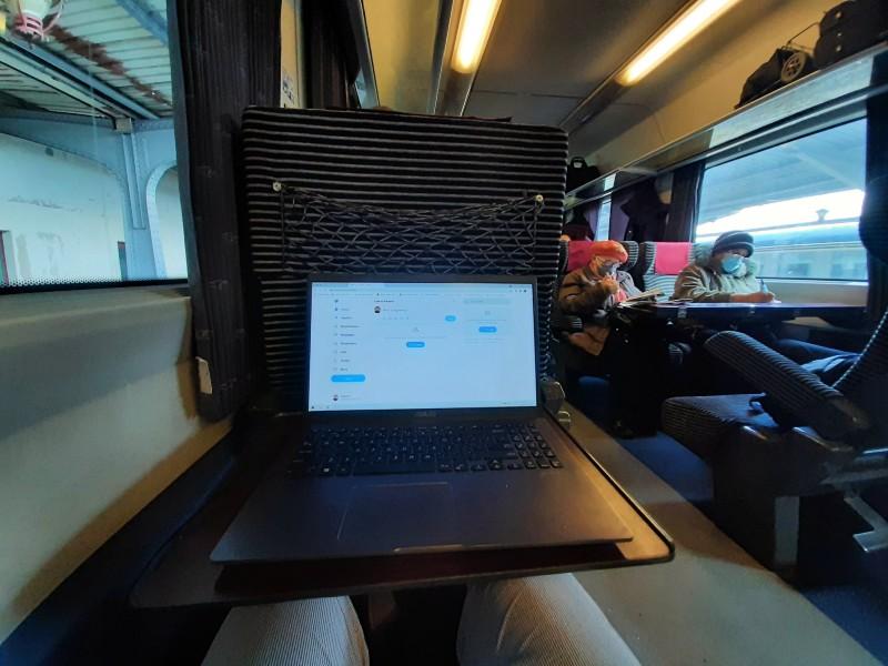 train romania laptop