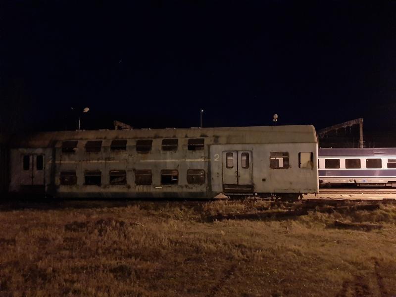 abandoned train railway carriage