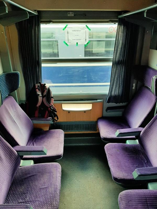 2nd class romania train compartment