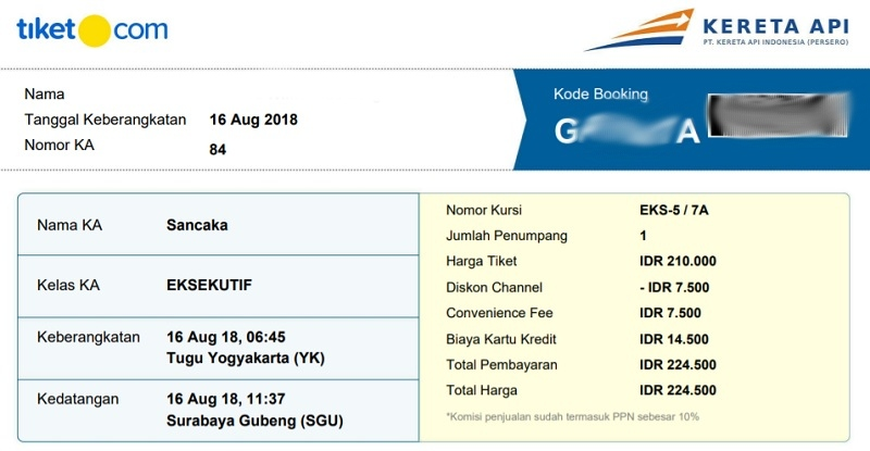 indonesia train ticket