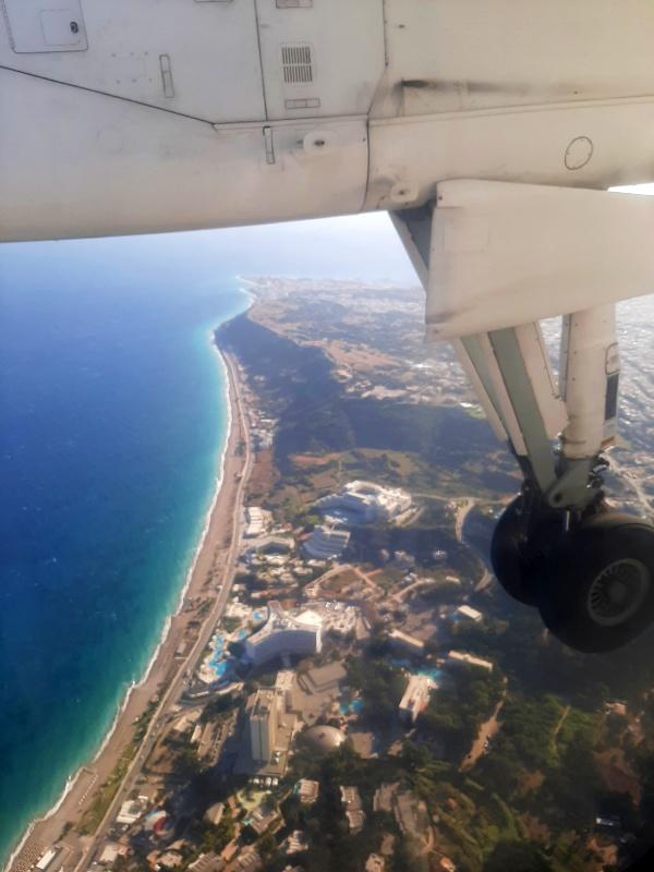 rhodes arrival plane