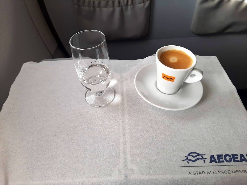 aegean business class meal service flight