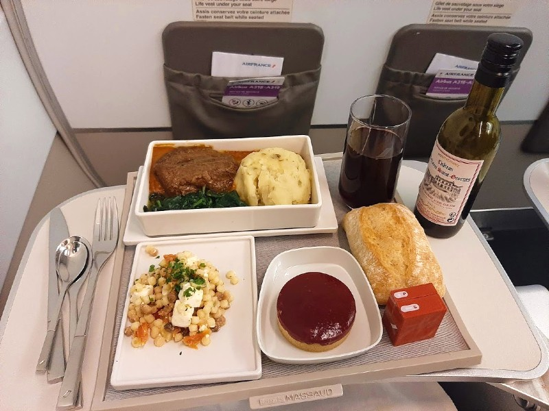 air france business class meal airline service corona
