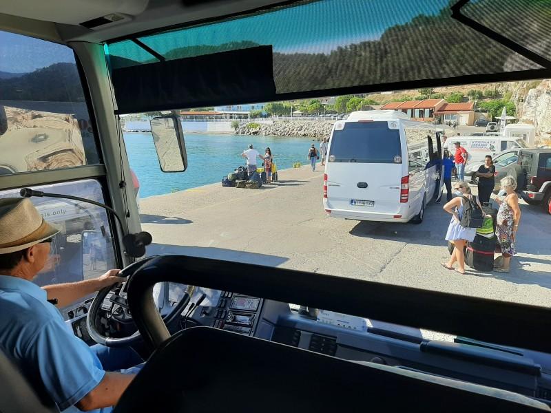 kamiros skala rhodes bus