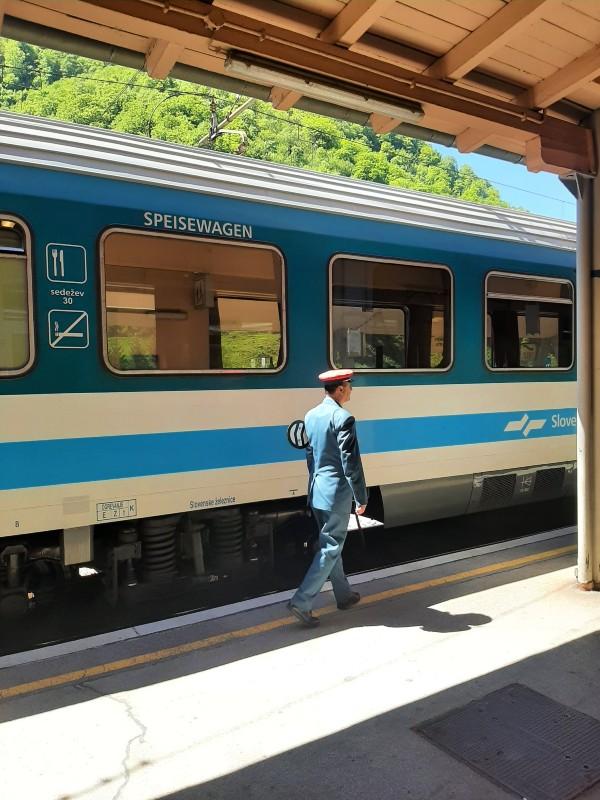 zidani most train slovenia dining car