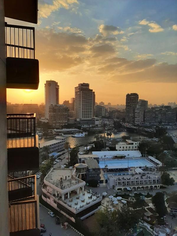 sunset view cairo