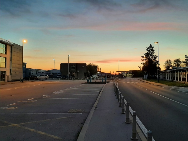zagreb airport sunrise
