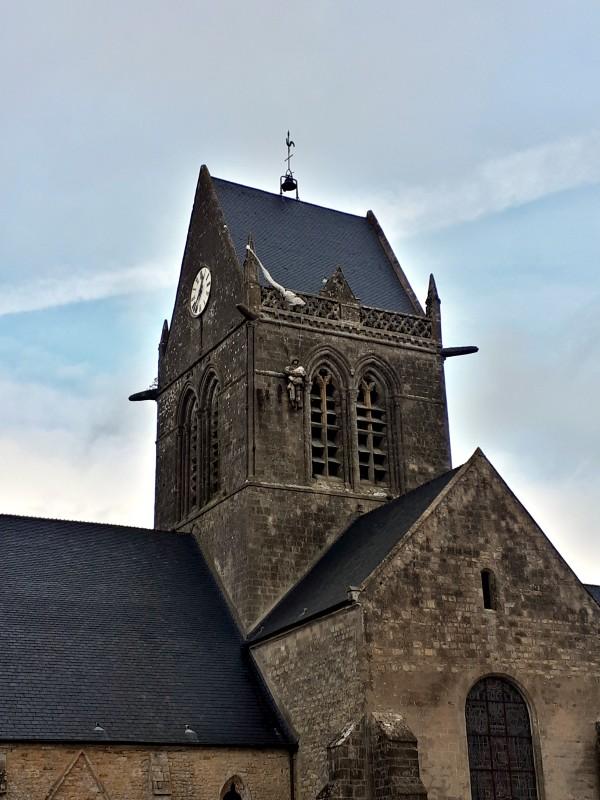 church tower saint-mere-eglise