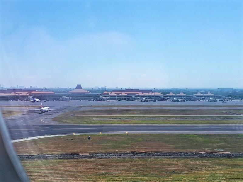 surabaya airport take-off