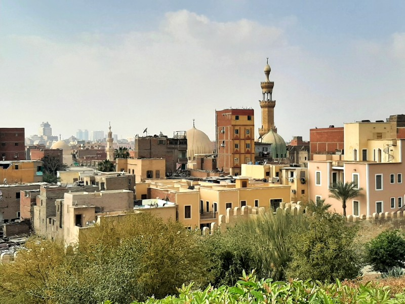al-azhar park cairo egypt old town