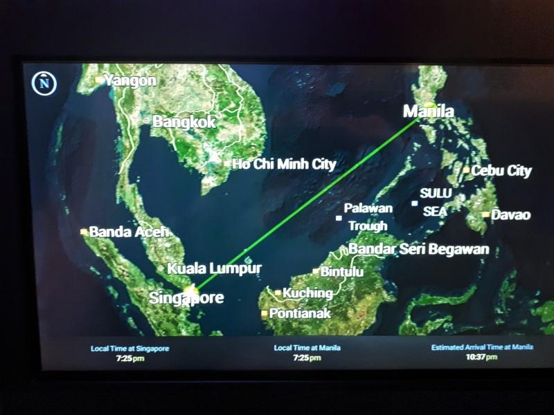 flight path manila singapore