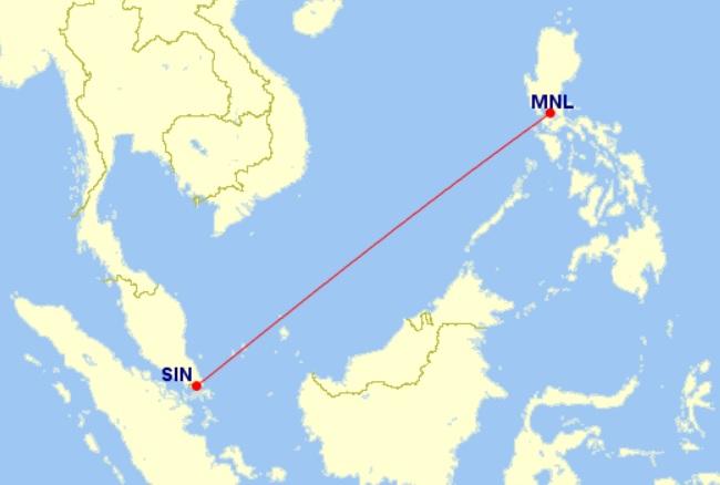 singapore manila flight