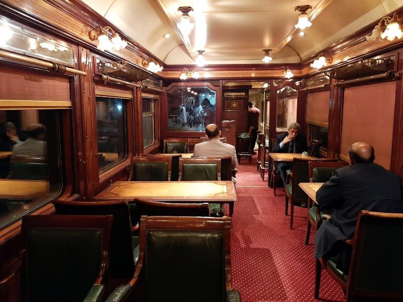 lounge car ernst watania sleeping train dining wagon bar cairo aswan
