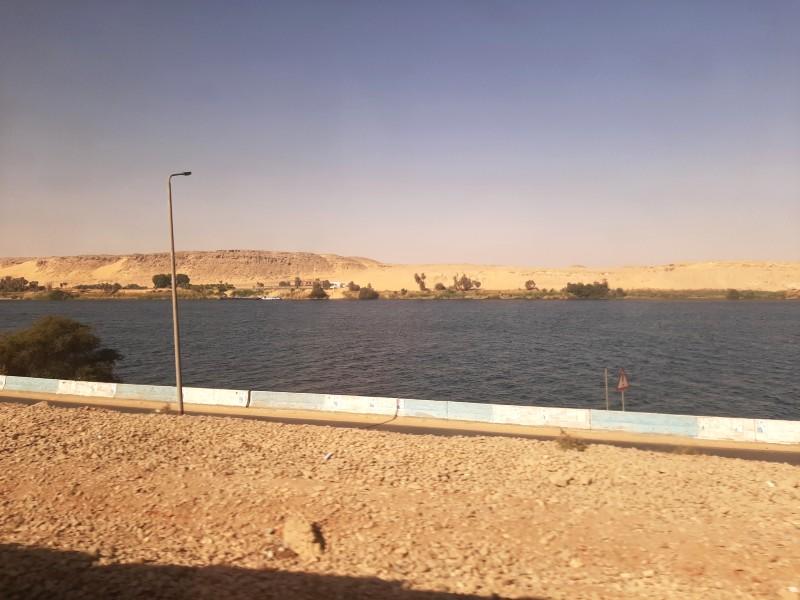 desert dunes aswan nile cairo train