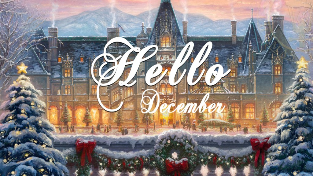 Hello December Winter at the Biltmore Painting