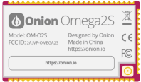 Onion Omega2 Dash using Omega2S Computer Module 1
