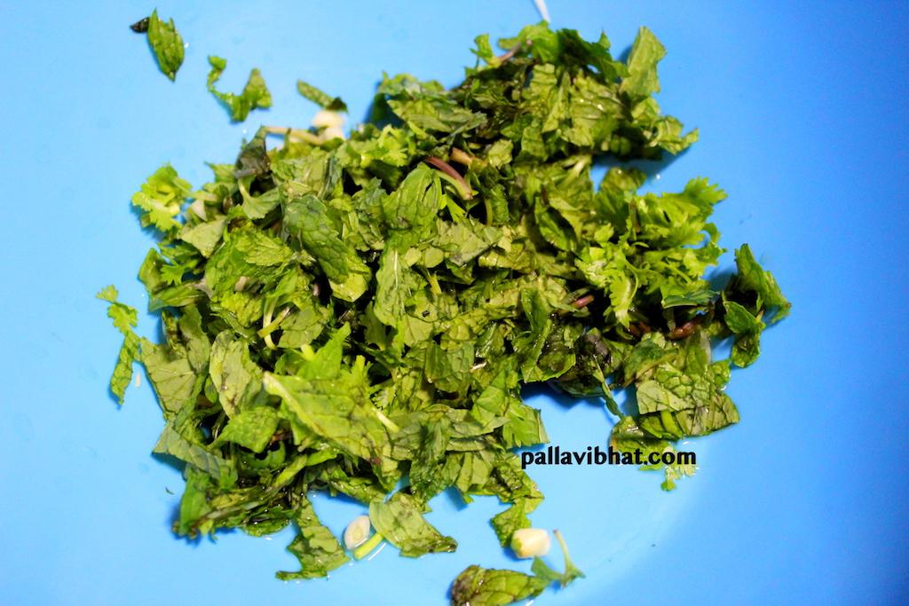 Mint leaves chopped
