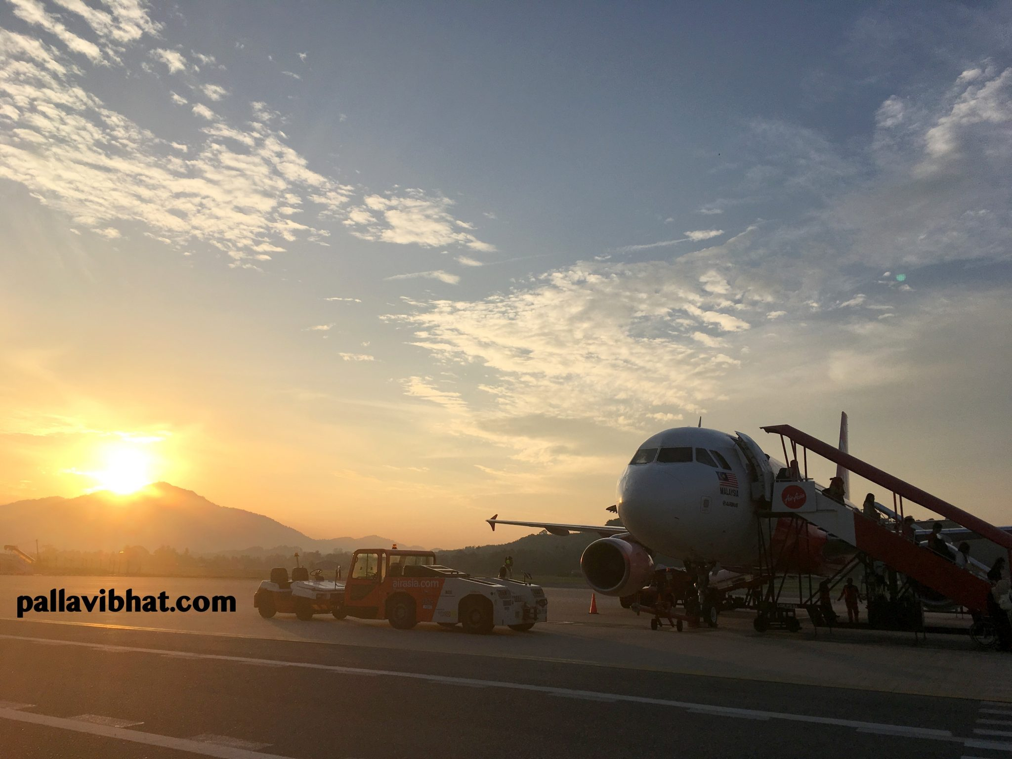 Sunrise at Langkawi Airport