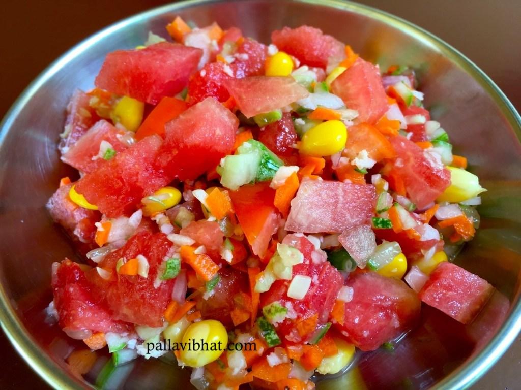 Watermelon-Cucucmber Salad