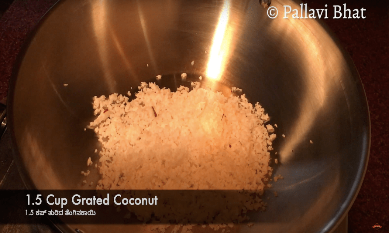 Grated Coconut for stuffing