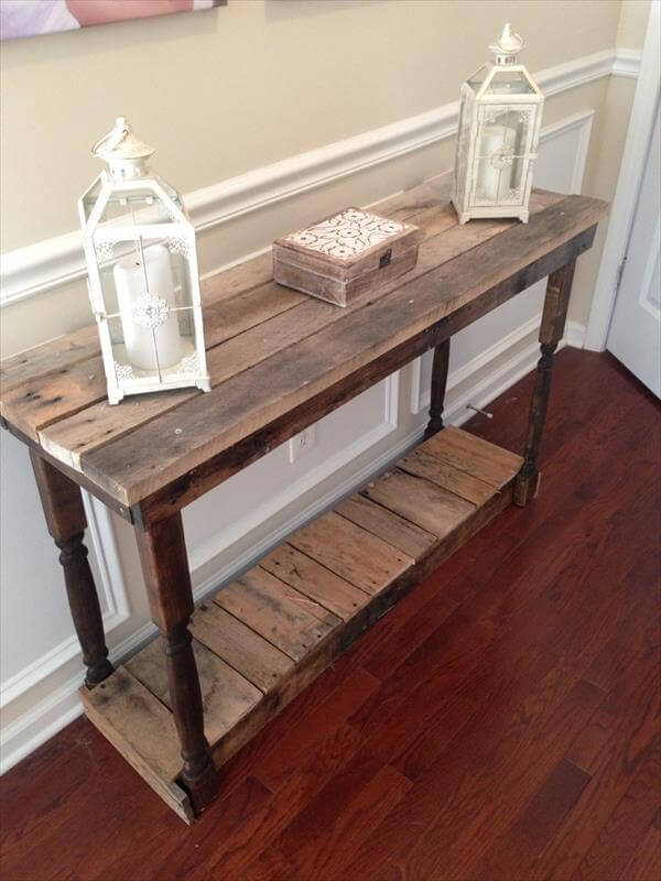 Diy Hall Table Plans