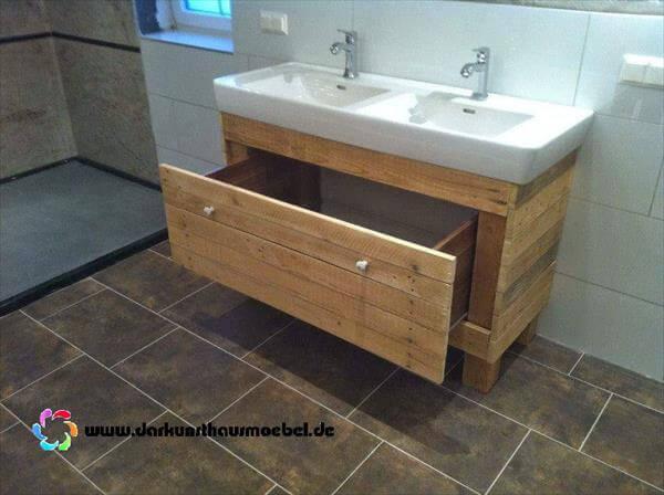 DIY Pallet Bathroom Vanity Pallet Furniture DIY