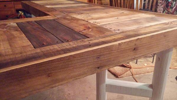 Diy Recycled Pallet L Shaped Desk Pallet Furniture Plans