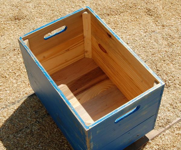 Diy Pallet Wood Rolling Crate Pallet Furniture Plans