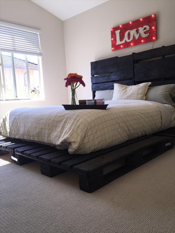 Pallet Platform Bed Pallet Furniture Plans