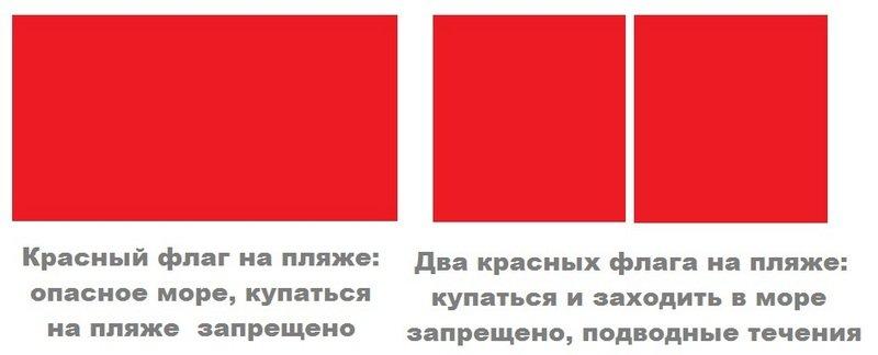 steaguri roșii pentru a căuta atunci când se întâlnește