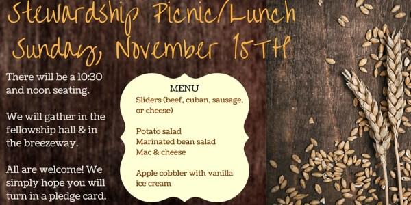 Stewardship Picnic Lunch