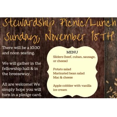 Stewardship Lunch