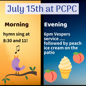 July 15th Hymn Sing and Ice Cream