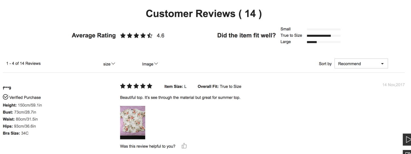 SheIn Customer Review