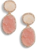 Krystal Faux Drusy Drop Earrings