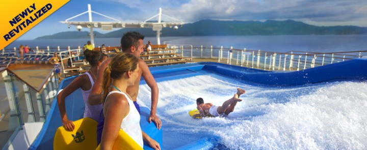 water slide fun aboard the Independence of the Seas