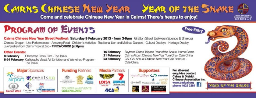 Chinese new year events Palm Cove Tropic Apartments
