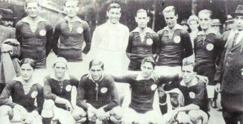 Escalação Palestra Itália contra o Corinthians em 1917