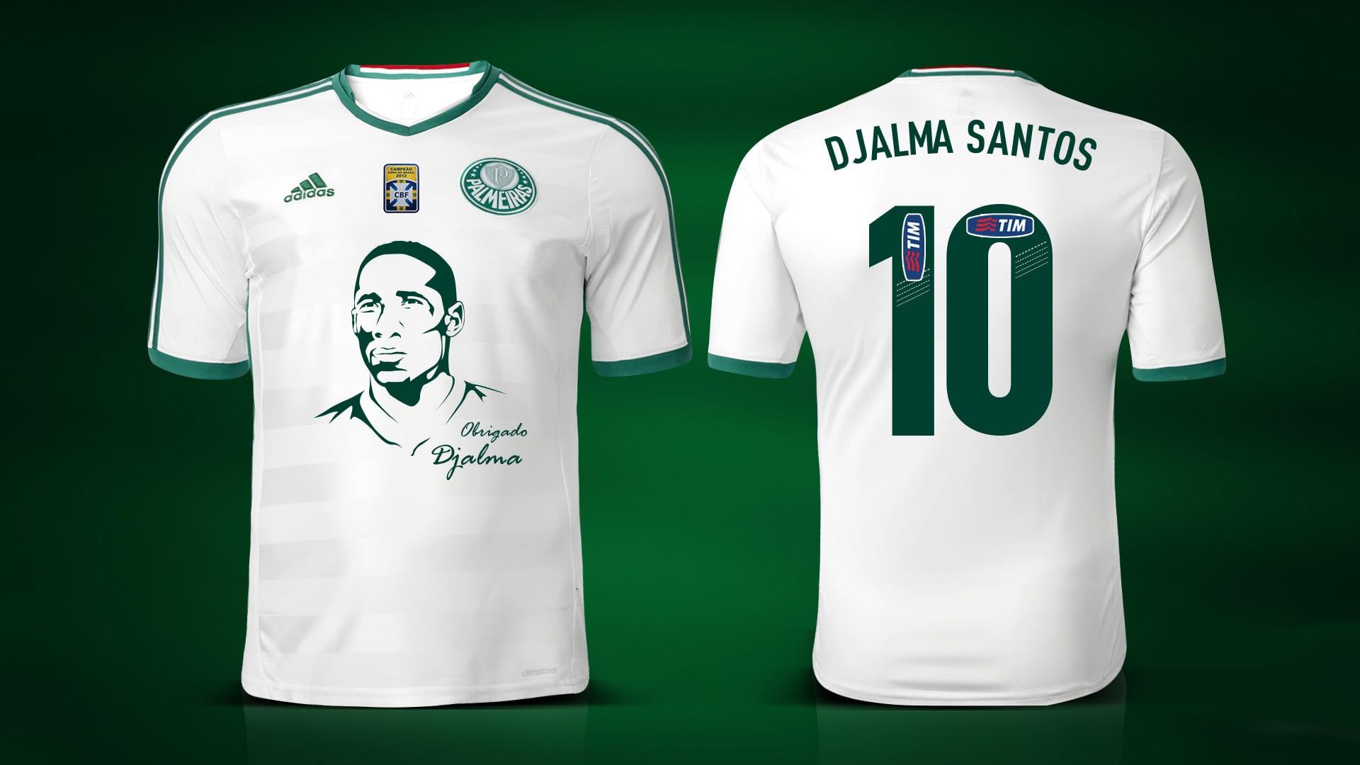 Palmeiras jogará camisa em homenagem a Djalma Santos