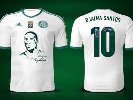 Camisa em homenagem ao Djalma Santos