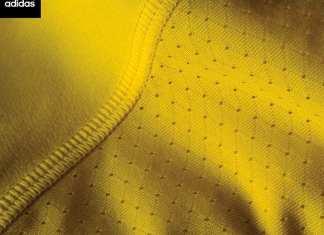 Adidas divulga primeira foto com detalhes da nova camisa do Palmeiras para o centenário.