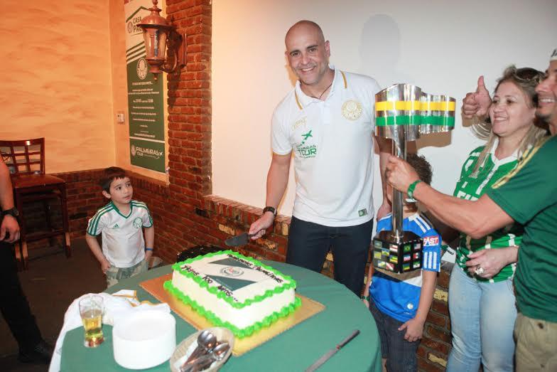 Marcos, na Casa Palmeiras em New Jersey, EUA.