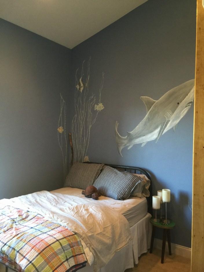 Shark themed bedroom
