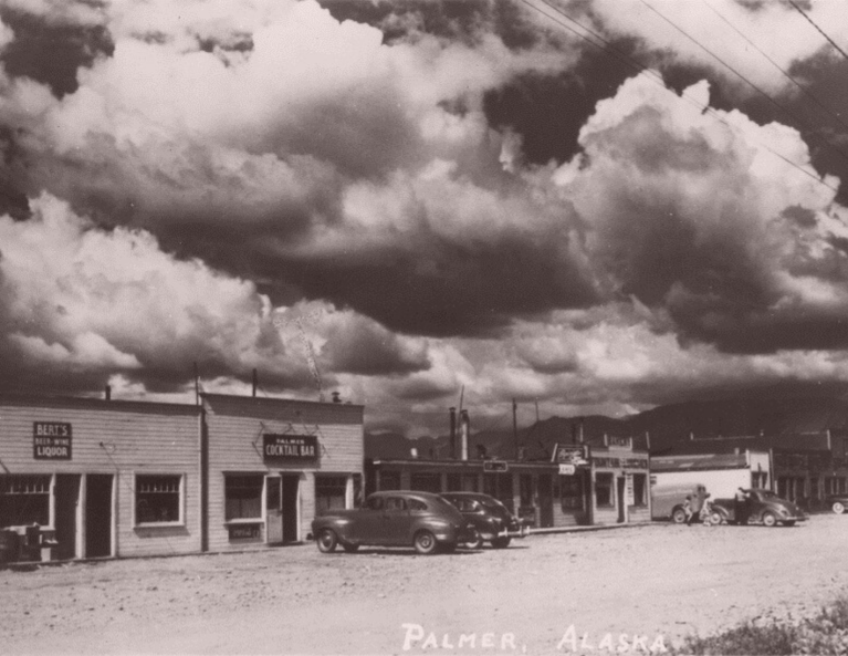 Historic photo from downtown Palmer, Alaska