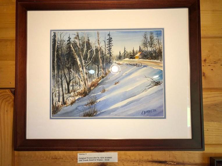 Ken Harris Artist of the Week Old Trunk Road in Winter
