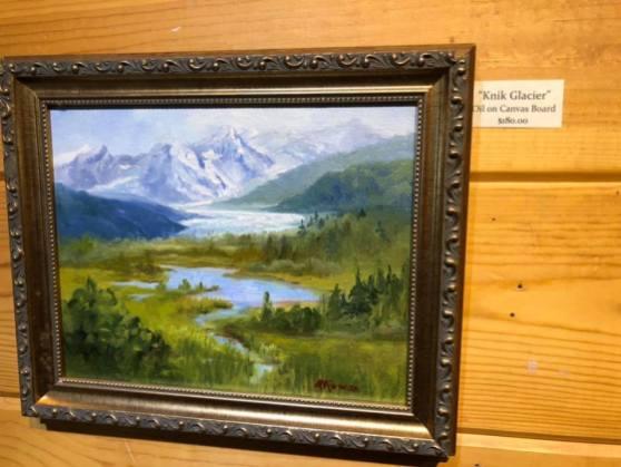 Maria McKiernan Artist of the Week at PMHA Knik Glacier