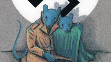 cover of the first trade paperback of art speigelman's maus a survivor's tale from raw magazine