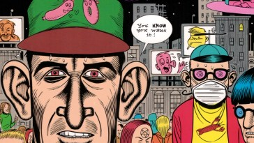 cover of daniel clowes' lout rampage, colleting stories from eightball